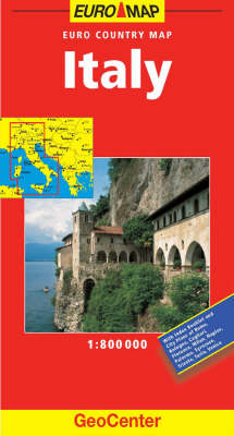 Italy euro map waterstones italy euro map geocenter euro map s sheet map folded gumiabroncs Images
