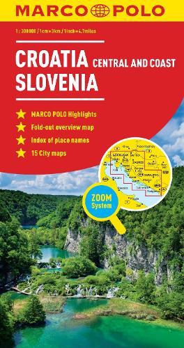 Croatia / Slovenia Marco Polo Map (Sheet map, folded)