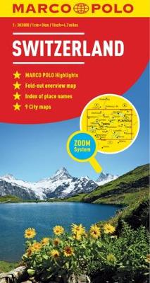 Switzerland Map - Marco Polo Maps (Sheet map, folded)