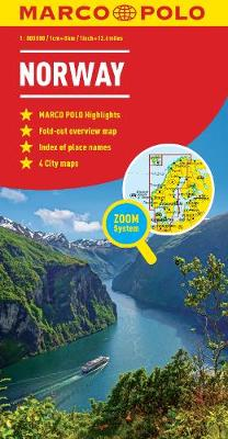 Norway Map - Marco Polo Maps (Sheet map, folded)