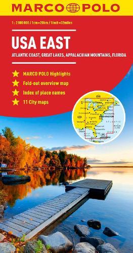 USA East Marco Polo Map (Sheet map, folded)