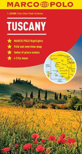 Tuscany Marco Polo Map (Sheet map, folded)