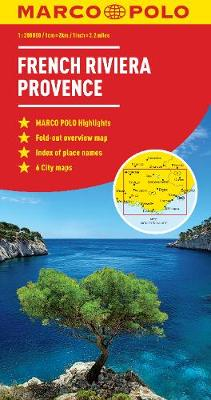 French Riviera, Provence Marco Polo Map (Sheet map, folded)