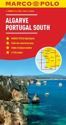 Algarve, Portugal South Marco Polo Map (Sheet map, folded)