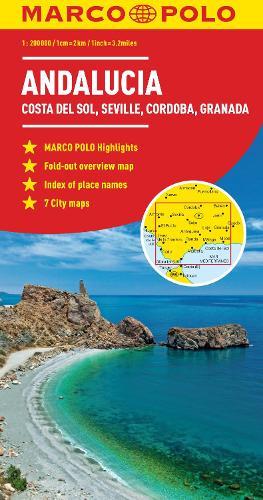 Andalusia, Costa Del Sol, Seville, Cordoba, Granada Marco Polo Map (Sheet map, folded)