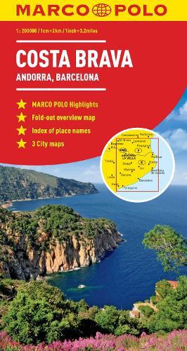 Costa Brava - Andorra, Barcelona Marco Polo Map (Sheet map, folded)