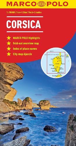 Corsica Marco Polo Map - Marco Polo Maps (Sheet map, folded)