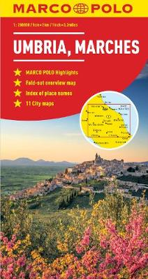Umbria and the Marches Marco Polo Map - Marco Polo Maps (Sheet map, folded)