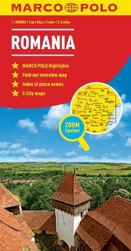 Romania Marco Polo Map - Marco Polo Maps (Sheet map, folded)