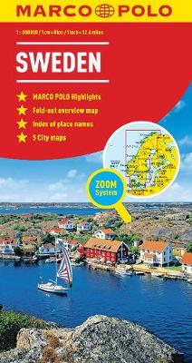 Sweden Map - Marco Polo Maps (Sheet map, folded)