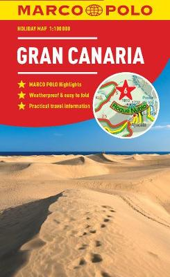 Gran Canaria Marco Polo Holiday Map - pocket size, easy fold Gran Canaria map - Marco Polo Holiday Maps (Sheet map, folded)