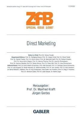 Direct Marketing - Zfb Special Issue (Paperback)
