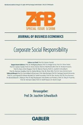 Corporate Social Responsibility - Zfb Special Issue (Paperback)