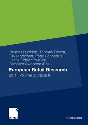 European Retail Research 2011, Volume 25 Issue II - European Retail Research (Paperback)
