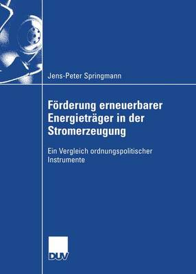 Forderung Erneuerbarer Energietrager in der Stromerzeugung (Paperback)