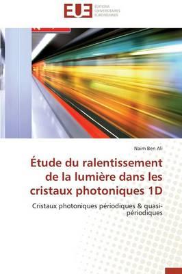 �tude Du Ralentissement de la Lumi�re Dans Les Cristaux Photoniques 1d - Omn.Univ.Europ. (Paperback)