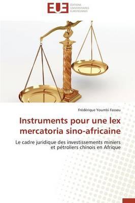 Instruments Pour Une Lex Mercatoria Sino-Africaine - Omn.Univ.Europ. (Paperback)