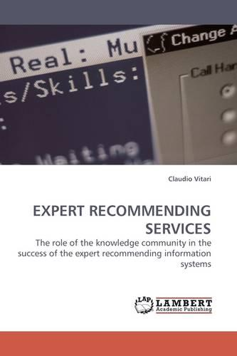 Expert Recommending Services (Paperback)