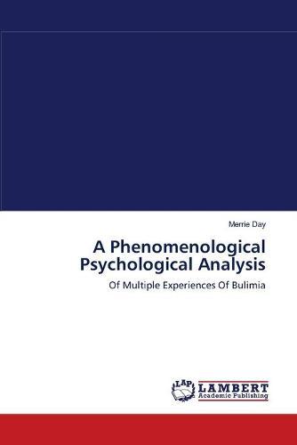 A Phenomenological Psychological Analysis (Paperback)
