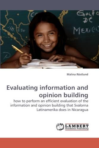 Evaluating Information and Opinion Building (Paperback)
