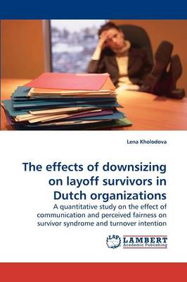 The Effects of Downsizing on Layoff Survivors in Dutch Organizations (Paperback)