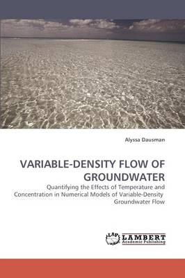 Variable-Density Flow of Groundwater (Paperback)
