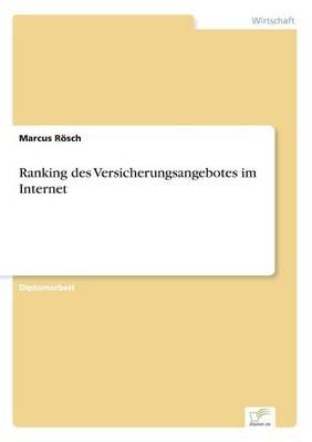 Ranking des Versicherungsangebotes im Internet (Paperback)
