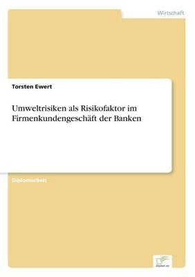 Umweltrisiken ALS Risikofaktor Im Firmenkundengeschaft Der Banken (Paperback)