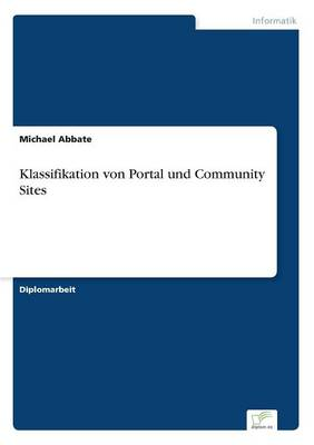 Klassifikation Von Portal Und Community Sites (Paperback)