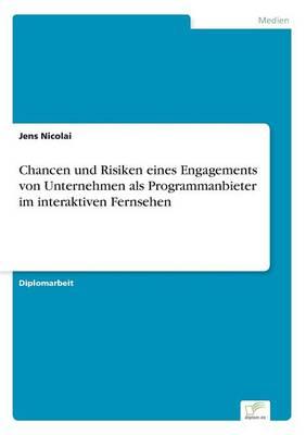 Chancen Und Risiken Eines Engagements Von Unternehmen ALS Programmanbieter Im Interaktiven Fernsehen (Paperback)