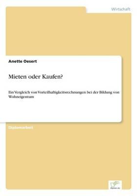 Mieten Oder Kaufen? (Paperback)