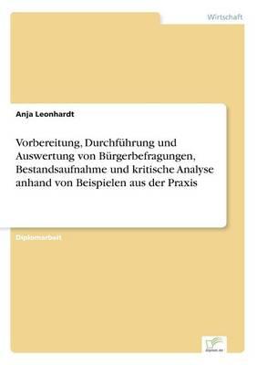Vorbereitung, Durchfuhrung Und Auswertung Von Burgerbefragungen, Bestandsaufnahme Und Kritische Analyse Anhand Von Beispielen Aus Der Praxis (Paperback)