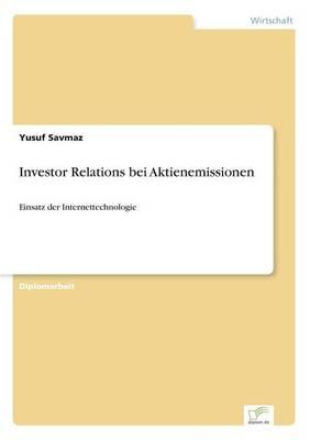 Investor Relations Bei Aktienemissionen (Paperback)