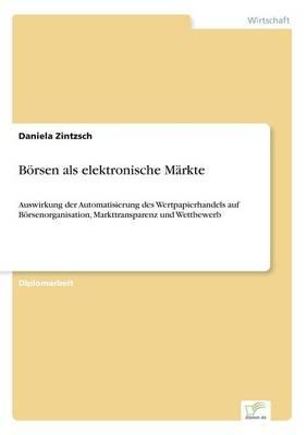 Borsen ALS Elektronische Markte (Paperback)