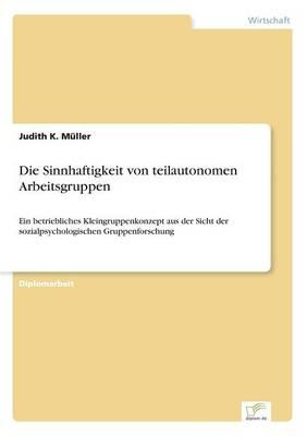 Die Sinnhaftigkeit Von Teilautonomen Arbeitsgruppen (Paperback)