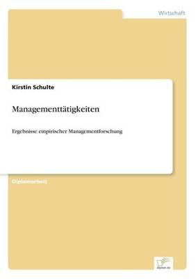Managementtatigkeiten (Paperback)