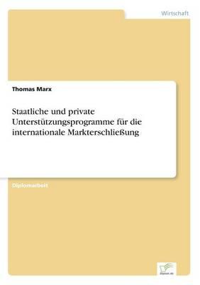 Staatliche Und Private Unterstutzungsprogramme Fur Die Internationale Markterschlieung (Paperback)