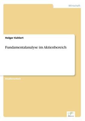 Fundamentalanalyse Im Aktienbereich (Paperback)