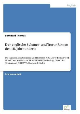 Der Englische Schauer- Und Terror-Roman Des 18. Jahrhunderts (Paperback)