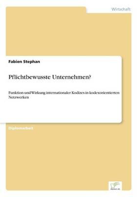 Pflichtbewusste Unternehmen? (Paperback)