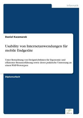 Usability Von Internetanwendungen Fur Mobile Endgerate (Paperback)