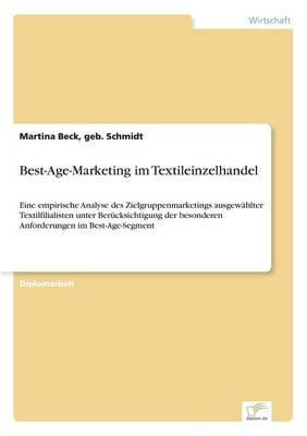 Best-Age-Marketing Im Textileinzelhandel (Paperback)