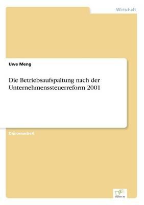 Die Betriebsaufspaltung Nach Der Unternehmenssteuerreform 2001 (Paperback)