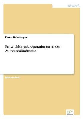 Entwicklungskooperationen in Der Automobilindustrie (Paperback)