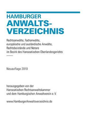 Hamburger Anwaltsverzeichnis (Paperback)