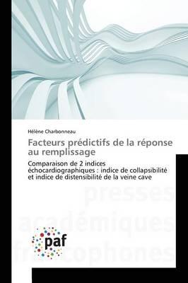 Facteurs Pr�dictifs de la R�ponse Au Remplissage - Omn.Pres.Franc. (Paperback)