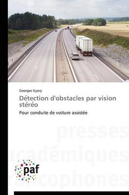 D�tection d'Obstacles Par Vision St�r�o - Omn.Pres.Franc. (Paperback)