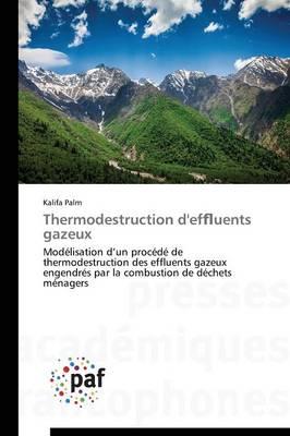 Thermodestruction d'Ef Uents Gazeux - Omn.Pres.Franc. (Paperback)