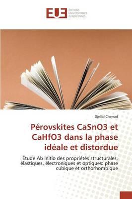 P�rovskites Casno3 Et Cahfo3 Dans La Phase Id�ale Et Distordue - Omn.Univ.Europ. (Paperback)