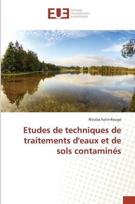 Etudes de Techniques de Traitements Deaux Et de Sols Contamin�s - Omn.Univ.Europ. (Paperback)